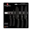 6 pcs knife set  with magnetic hanger, silver