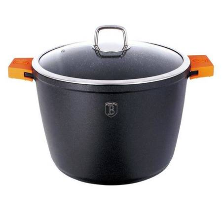 Stock pot with lid 24 cm, Granit Diamond Line FULL Induction bottom